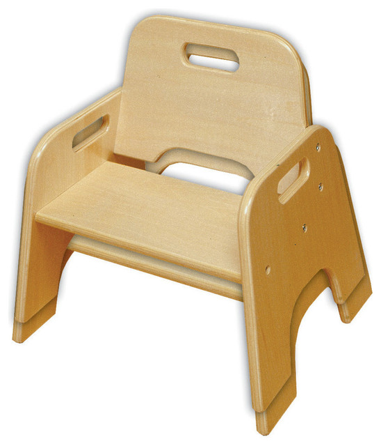 "Stackable Wooden Chairs 8"" stackable wooden toddler chair, rta, 2-piece set - contemporary"