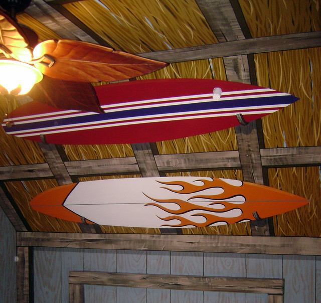 Surf Shack Room Mural By Tom Taylor Of Wow Effects In