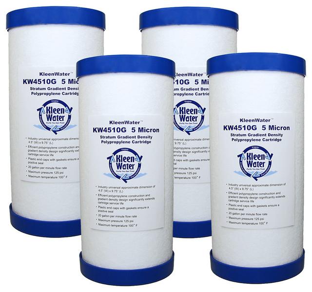 Kleenwater Kw4510g Melt Blown Sediment Water Filter Cartridge, 4-Pack.