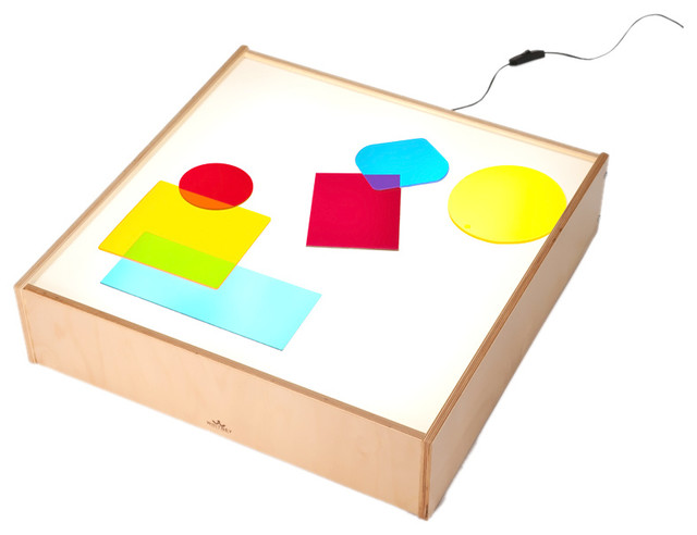 Whitneybrothers whitney brothers home school kids play room birch laminate tabletop light box