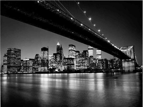 Manhattan Skyline Wall Mural DM119 Black And White Contemporary Wallpaper Part 87
