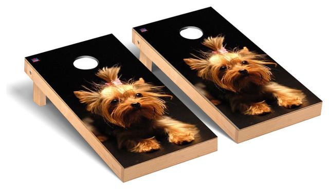 Yorkshire Terrier Dog Themed Regulation Cornhole Game Set ...
