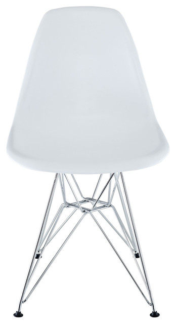 Eiffel Chairs White Side Wire Base Set Of 2
