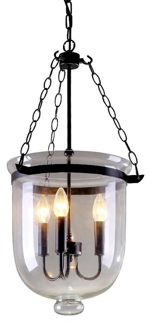 3light industrial clear glass pendant light large lighting