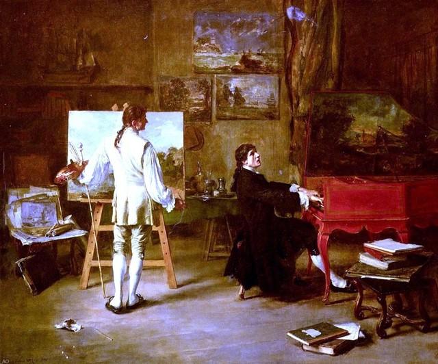 Lucien Alphonse Gros Pergolese Dans L 39 Atelier De Joseph