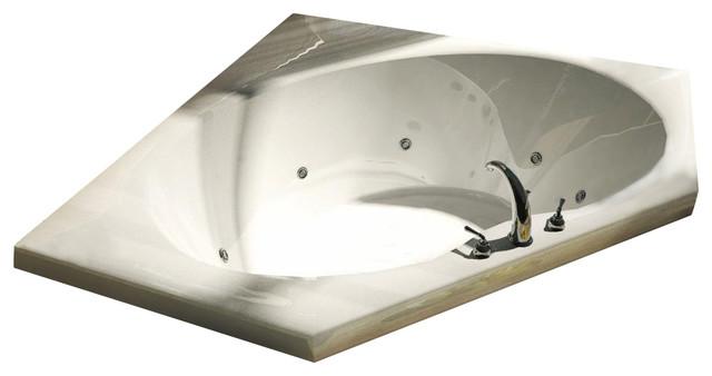 Atlantis Tubs 6060e Eclipse 60x60x23 Inch Corner Soaking Bathtub.