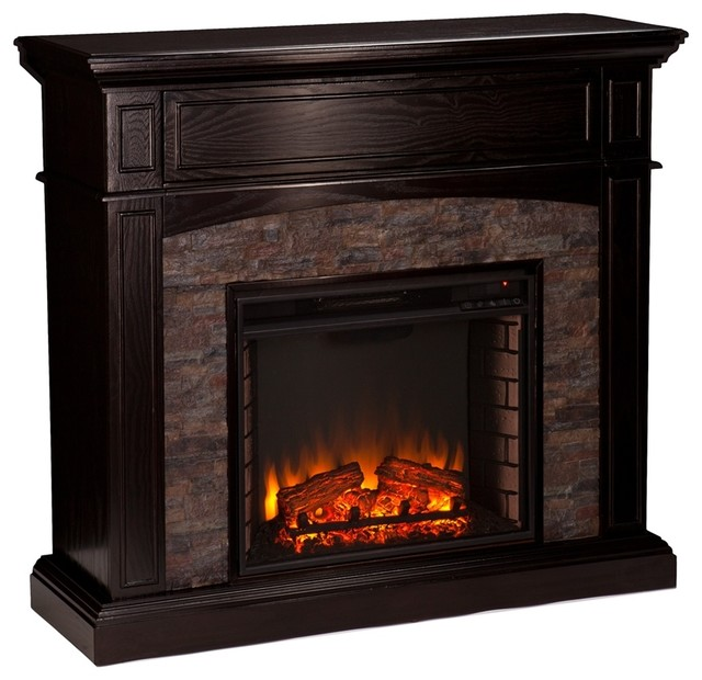 Promotion Today Grantham Faux Stone Corner Electric Media Fireplace