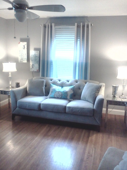 Completely new I have lightgray sofa w/turquoise pillow what colors can i use on wall FF33