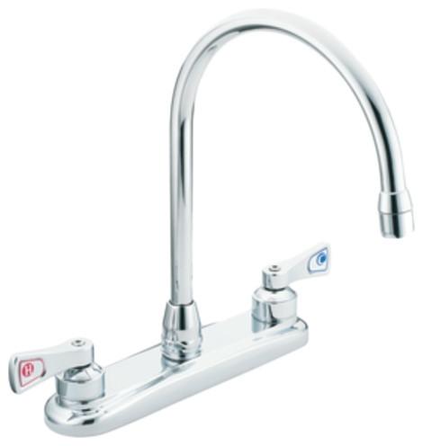 Moen M-Dura Chrome 2-Handle Kitchen Faucet.
