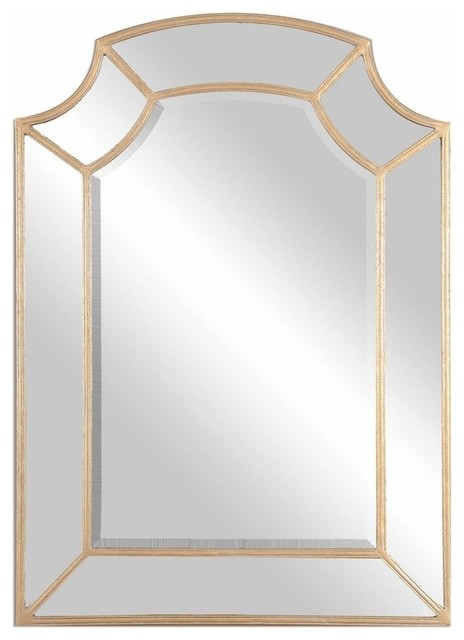 Arch Wall Mirror classic gold arch wall mirror - traditional - wall mirrors -my