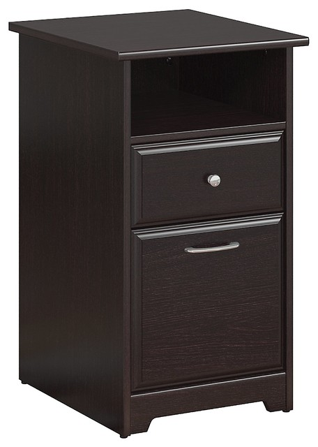 Cabot 2 Drawer File Cabinet, Espresso Oak.