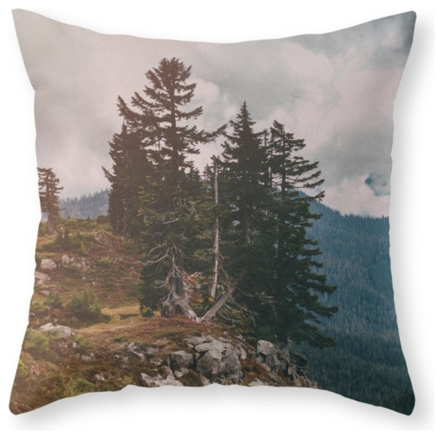 Throw Pillows Ross : Society6 Northwest Forest, Throw Pillow - Rustic - Decorative Pillows - by Society6