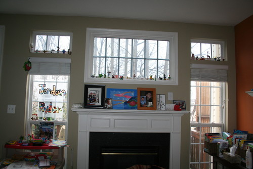 Looking For Window Treatment Ideas To Cover Transom In Kitchen