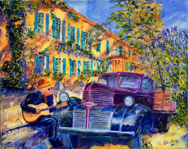Music And Wine In Provence Painting.