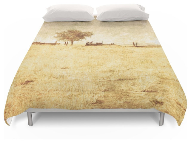 Society6 Rural Landscape With e Tree Duvet Covers Farmhouse Duvet Cover