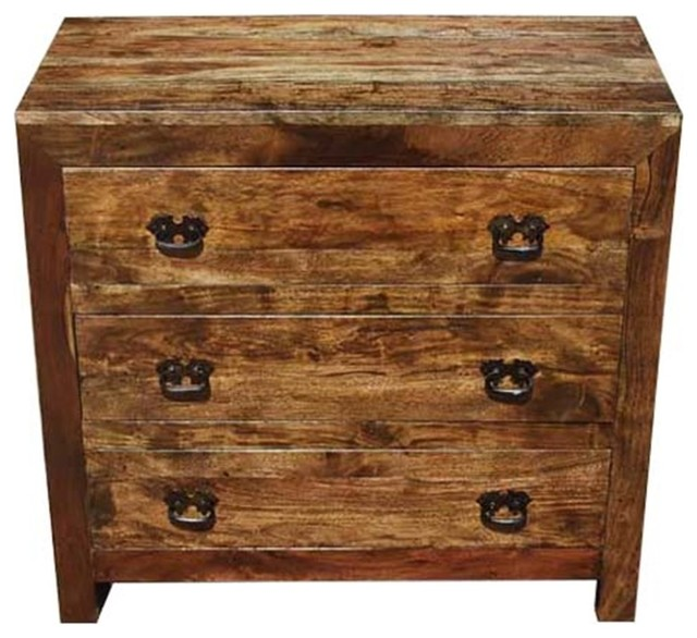 new concept 108f2 b3716 Appalachian Rustic Solid Wood Small Dresser Chest With 3 Drawers