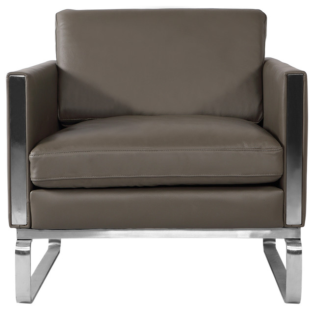 Amazing Kardiel Amsterdam Ch101 Mid Century Modern Chair Premium Gray Aniline Leather Caraccident5 Cool Chair Designs And Ideas Caraccident5Info