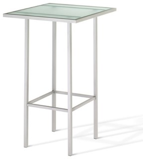 Square Pub Table With Glasstop, Counter Height
