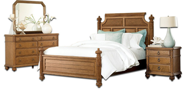 Tropical Bedroom Furniture Sets Drew Grand Isle Bedroom Set Amber Tropical Bedroom Furniture Sets