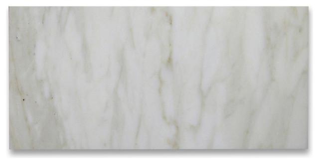 "6""x12"" Calacatta Gold Subway Tile Polished Italian Calcutta Marble, Set of 400"