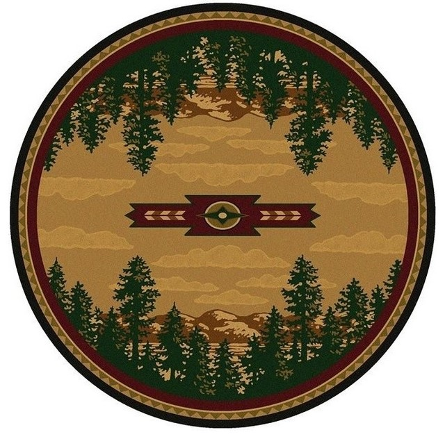pine tree round area rug autumn point  rustic  area rugs  by, round area rugs amazon, round area rugs canada, round area rugs cheap