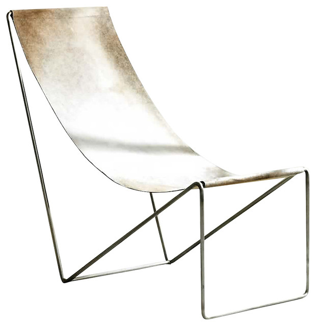 leather sling chair industrial living room chairs by forma