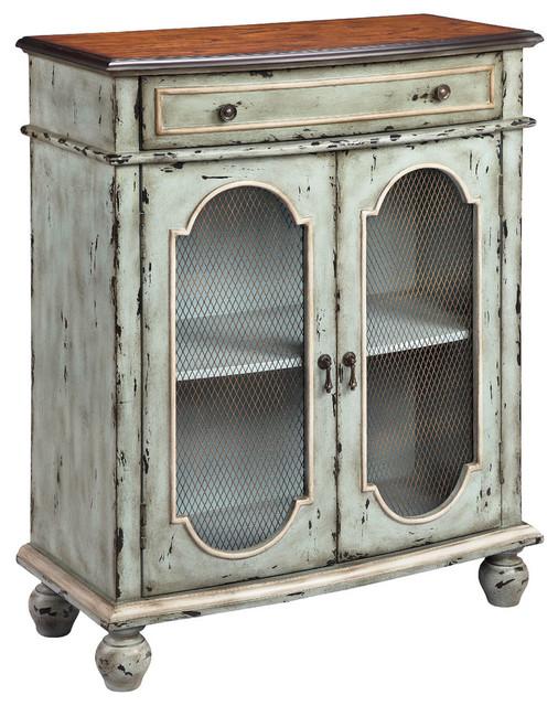 Stein world andria 2 door 1 drawer accent cabinet for Baroque 2 door accent cabinet