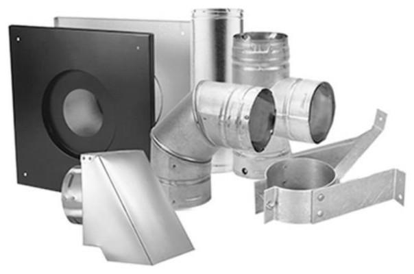 Duravent 3pvm-Kha Pellet Vent/multi-Fuel Horizontal Kit, 3.