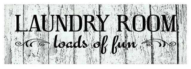 18 Laundry Room Loads Of Fun Wood Print Sign Contemporary Novelty Signs By Twisted R Design