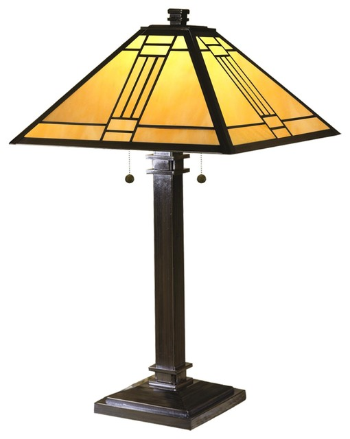 Dale Tiffany Noir Mission 26 Inch High Table Lamp.