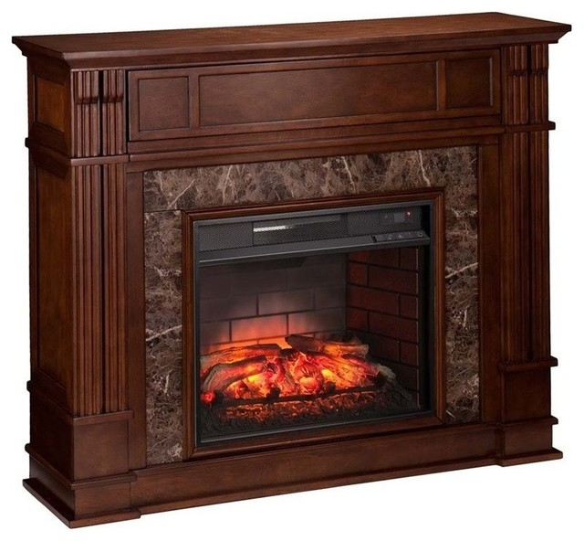 Southern Enterprises Highgate Infrared Electric Fireplace