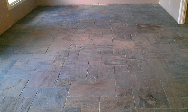 Floor Versailles Pattern Gauged Rustic Gold Slate