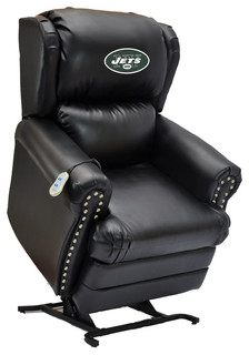 New York Jets Coach Leather Lift Chair