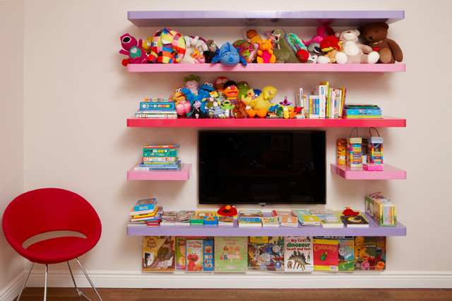 Amazing High Gloss Shelves For Kids Room