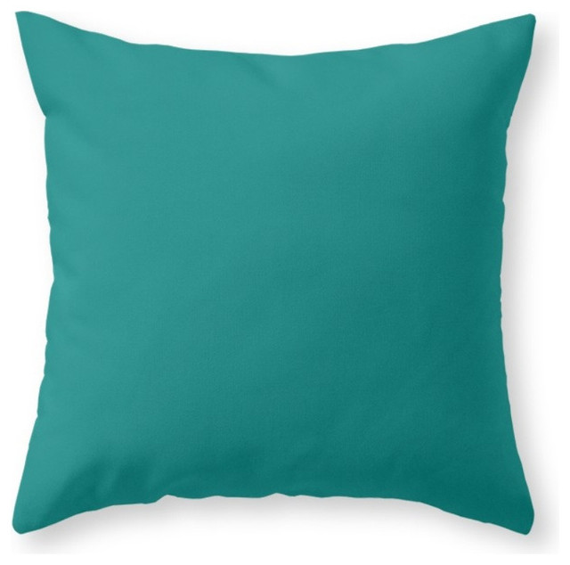 Society6 #00827F Teal Green, Throw Pillow - Contemporary - Decorative Pillows - by Society6