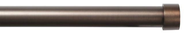 "Umbra Cappa Nickel Double Drapery Rod, 36 to 72"""
