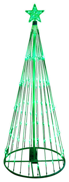 12 led light show christmas tree yard art decoration green contemporary outdoor - Led Outdoor Christmas Tree