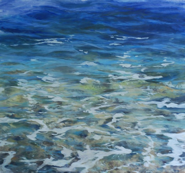 """sea Level"" Oil Painting On Canvas By Marilyn Muller."