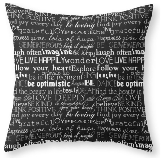 Decorative Throw Pillows With Words : Shop Houzz Society6 Society6 Inspirational Word, Throw Pillow - Decorative Pillows