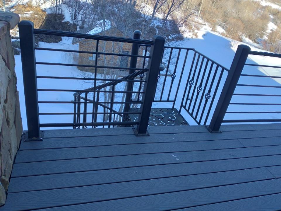Log Home Deck Restoration