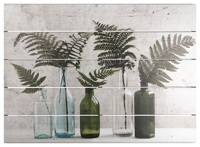 Botanical Bottles Wood Wall Art.