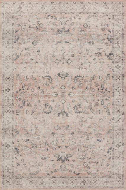 Loloi II Printed Hathaway Blush Ivory Area Rug, 9'x12'