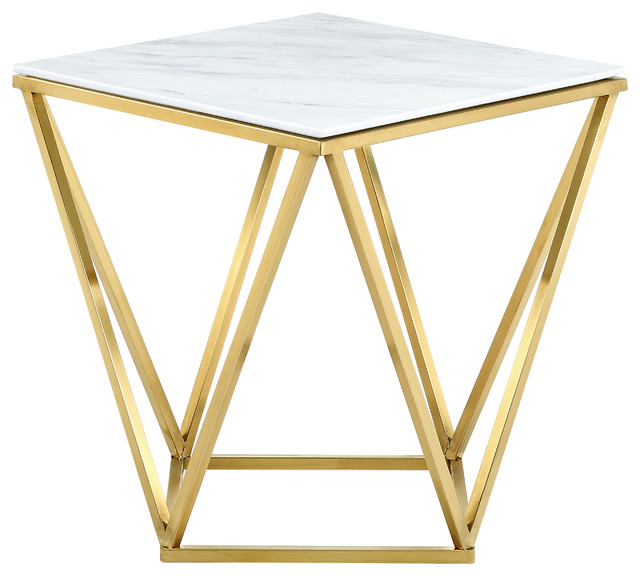 Mason Gold End Table Contemporary Side Tables And End Tables