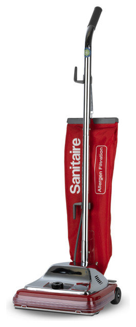 Electrolux Sanitaire Heavy Duty Commercial Upright Vacuum 17 5 Lbs Chrome Red