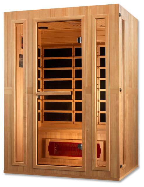 Maxxus Trinity Dual Tech3 Person Low Emf Far Infrared Sauna.