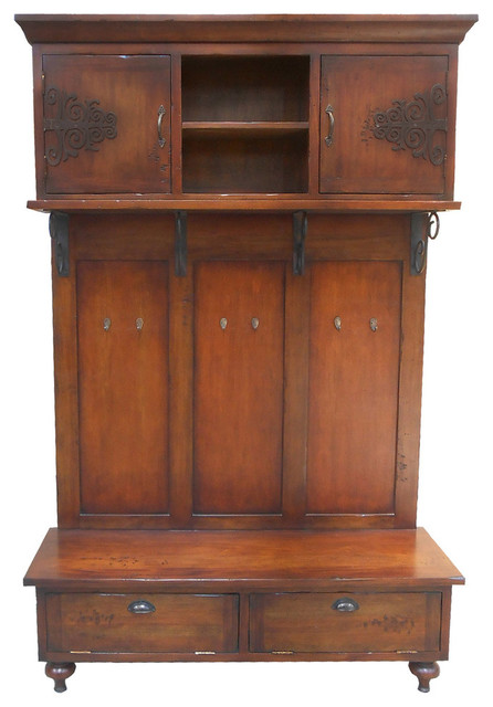 SCROLLED IRON HALL CABINET