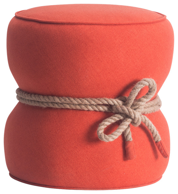 Shop Houzz Zuo Modern Contemporary Nautical Rope Hourglass Pouf - Floor Pillows And Poufs