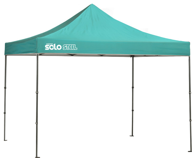 Solo Steel 100 10&x27;x10&x27; Straight Leg Canopy, Turquoise.