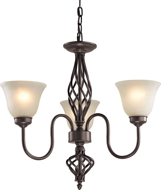 Cornerstone Santa Fe 3 Light Chandelier , Oil Rubbed Bronze