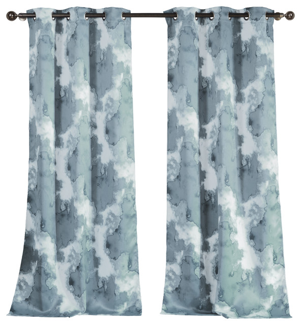 Kensie Kittalilly Thermal Blackout Pair Panel, Blue/Gray